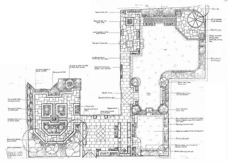 Arcadia Blog - The Walled Garden B+W Plan