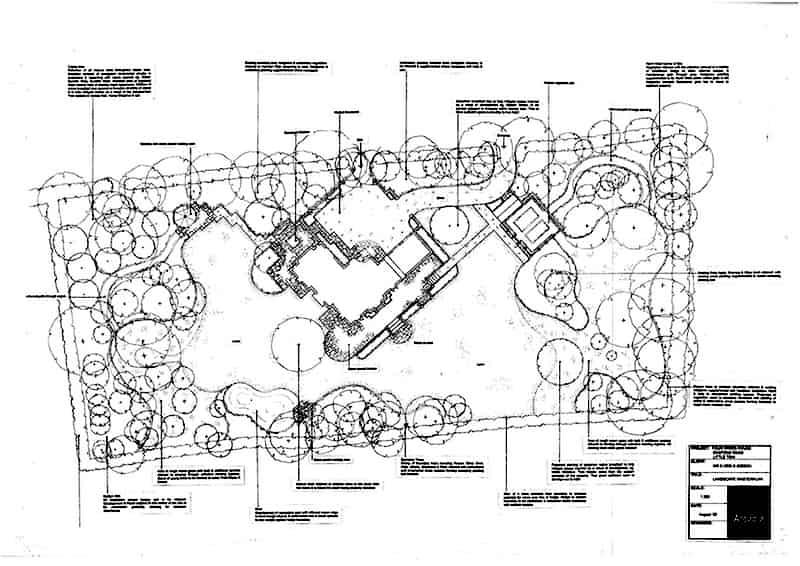 Arcadia Blog - Oakridge House - Landscape Proposals Plan