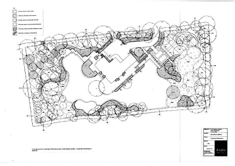 Arcardia Blog - Oakridge House - Planting Proposals Plan