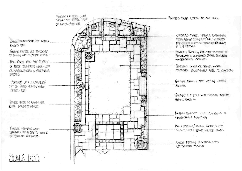 New Build Courtyard Case Study | Arcadia Garden Design